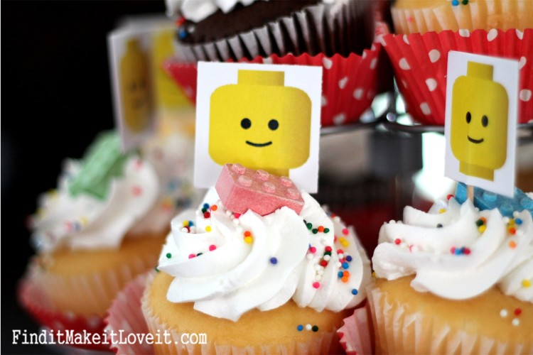 DIY Lego cupcake toppers