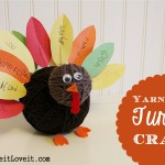 Yarn Ball Turkey Kids Craft