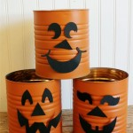 Tin can pumkins