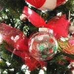 CHRISTmas ornaments and easy glitter ornaments