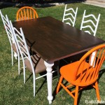 Dining Table & Chairs Re-finish {Transformation Tuesday}