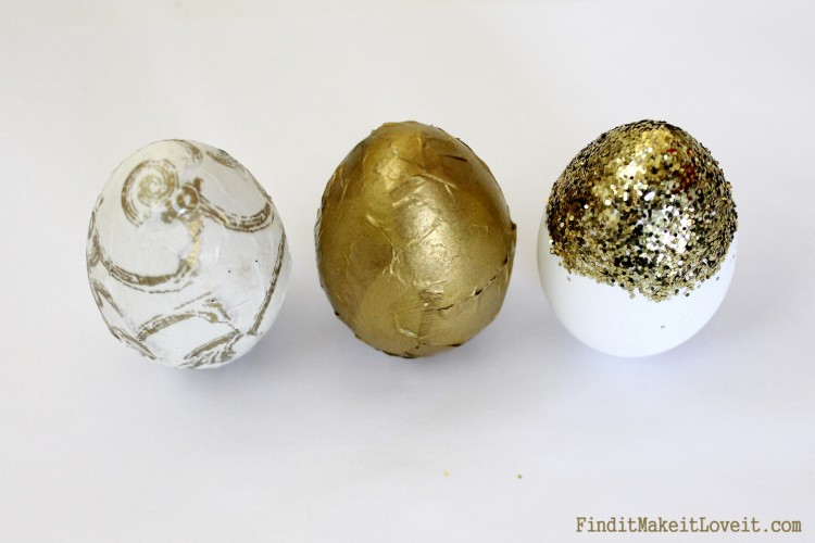 Gold leafed easter eggs dollar store (1)