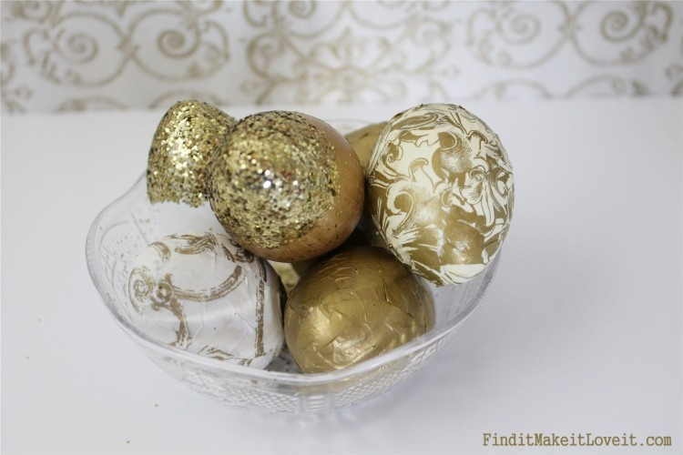 Gold leafed easter eggs dollar store (2)