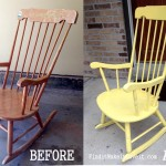 Spray Painted Rocking Chair