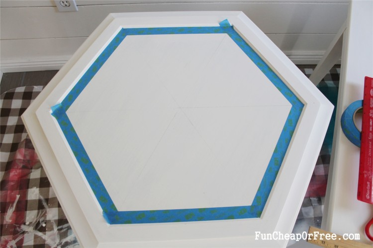 DIY Chalk paint-Hexagon table (13)