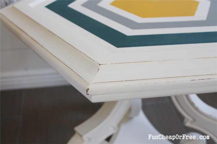 DIY Chalk paint-Hexagon table (5)