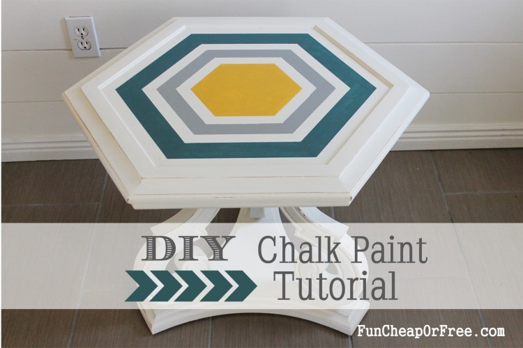 DIY Chalk paint-Hexagon table (6)