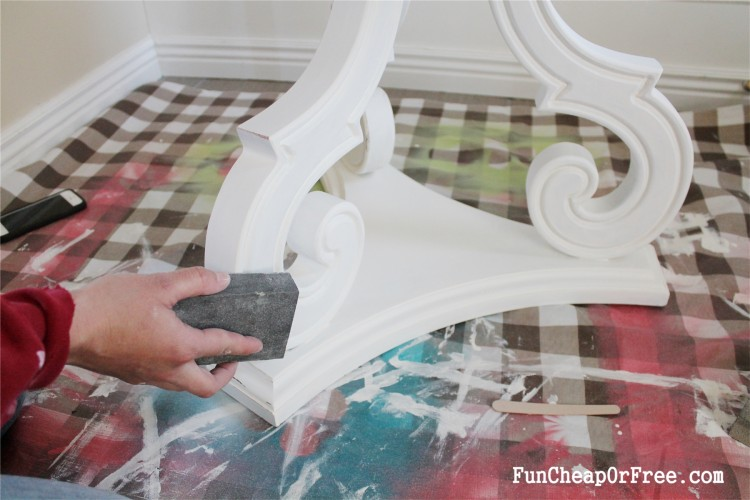 DIY Chalk paint-Hexagon table (7)