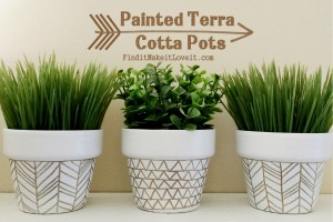 Painted Terra Cotta Pots (1)
