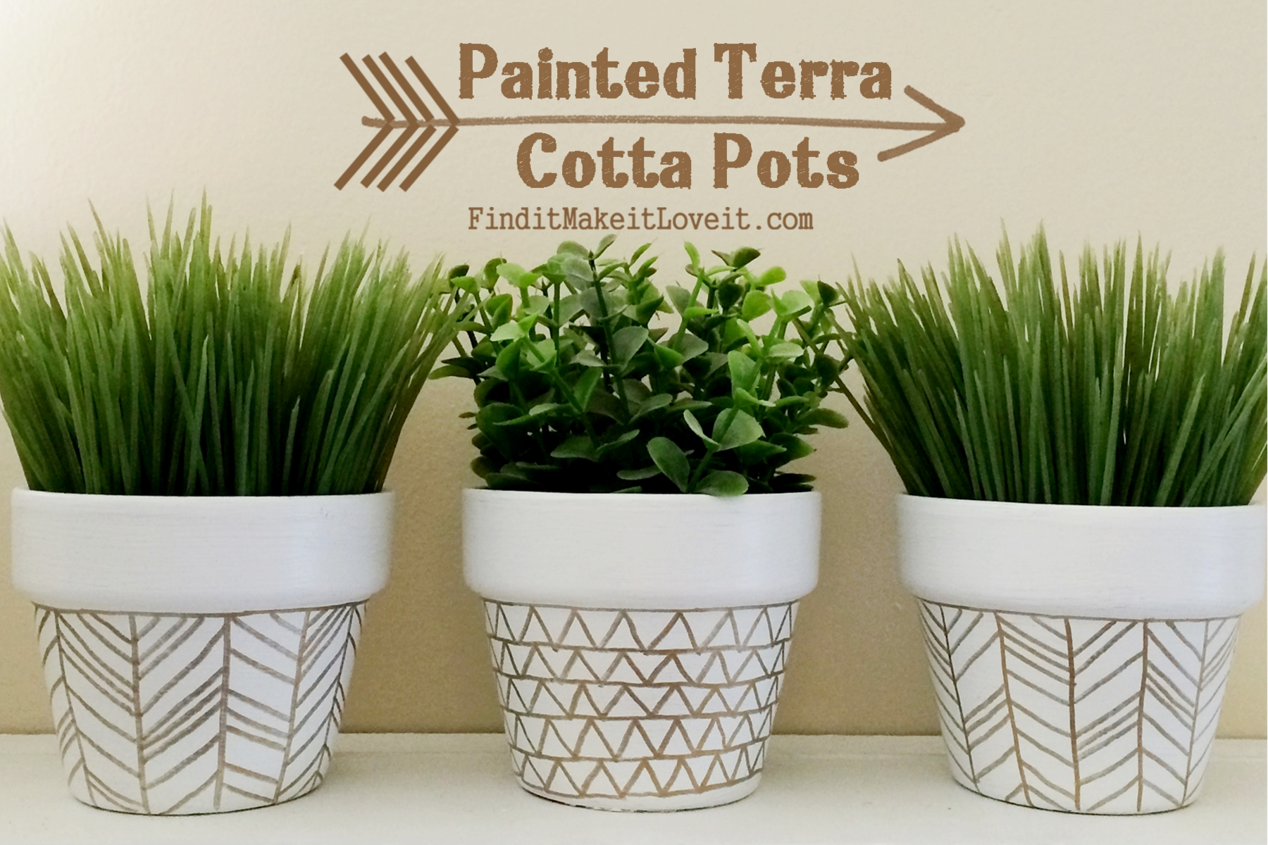 Very Funny Painted Planter Pots - Find it, Make it, Love it YL75