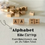 Alphabet Tile Earrings