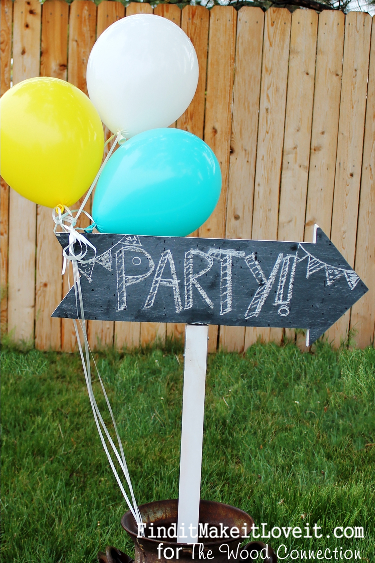 Chalkboard Party Sign Wood Connection Giveaway Find