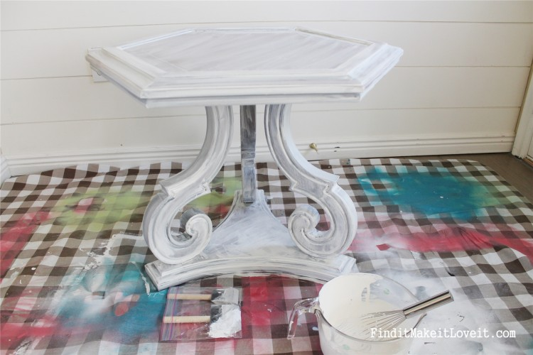 DIY Chalk Paint-Hex table (18)