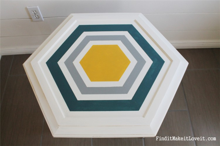 DIY Chalk Paint-Hex table (4)