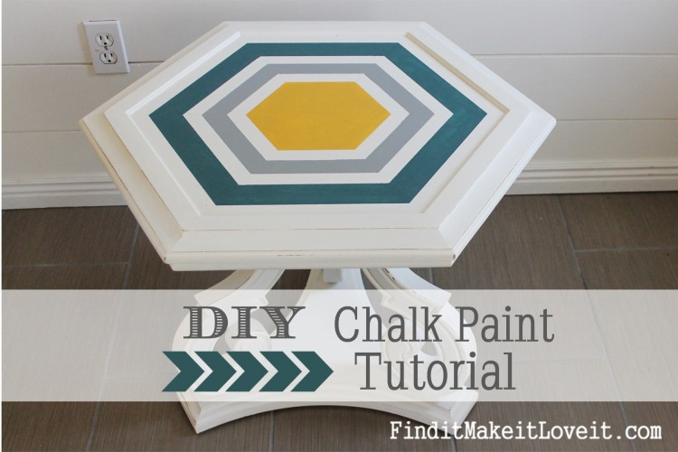 DIY Chalk Paint-Hex table (6)