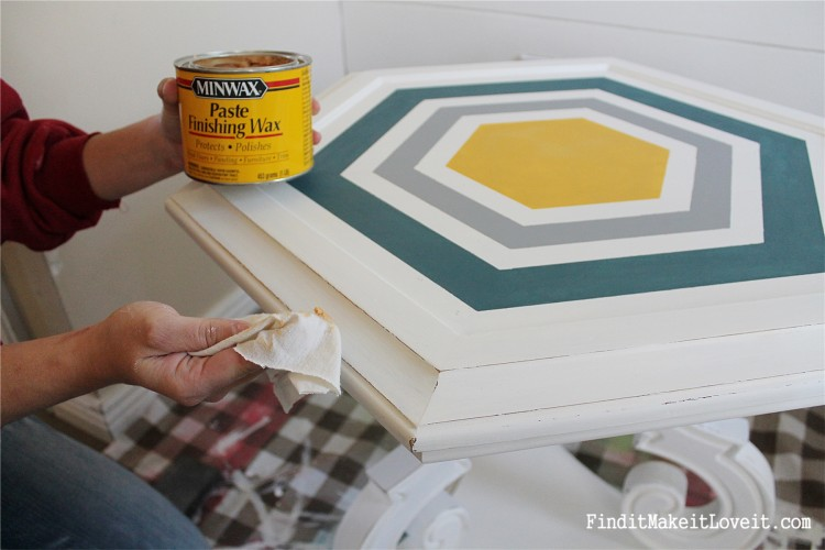 DIY Chalk Paint-Hex table (7)