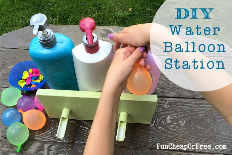 DIY Water Balloon Station using old shampoo bottles!