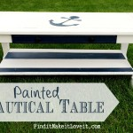 Painted Nautical Table