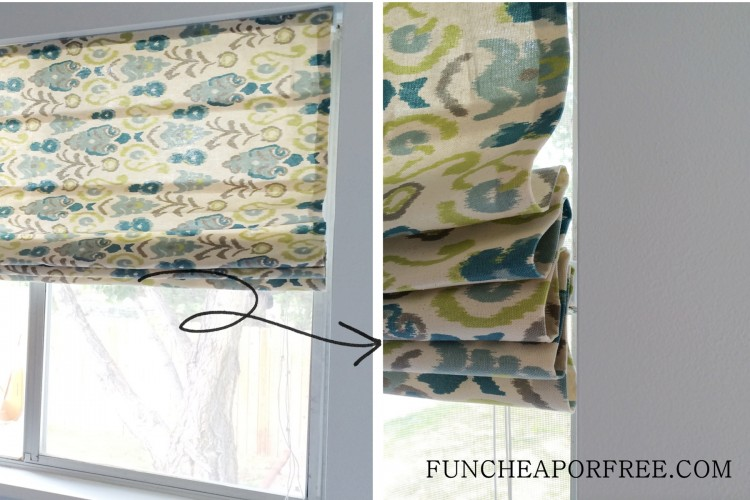 DIY No Sew Roman Shades (13)