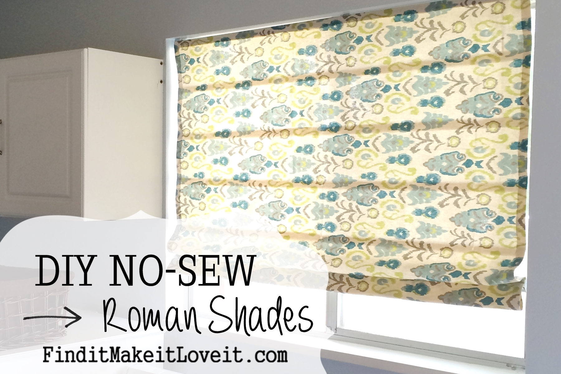 diy no sew roman shades find it make it love it. Black Bedroom Furniture Sets. Home Design Ideas