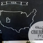 Huge Chalkboard Map