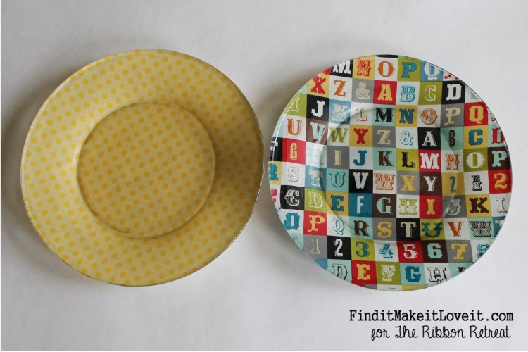 Fabric covered glass plate (10)