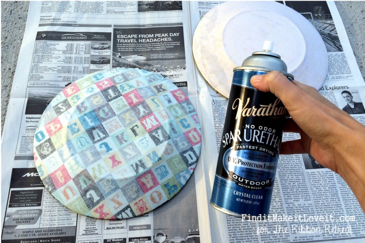 Fabric covered glass plate (2)