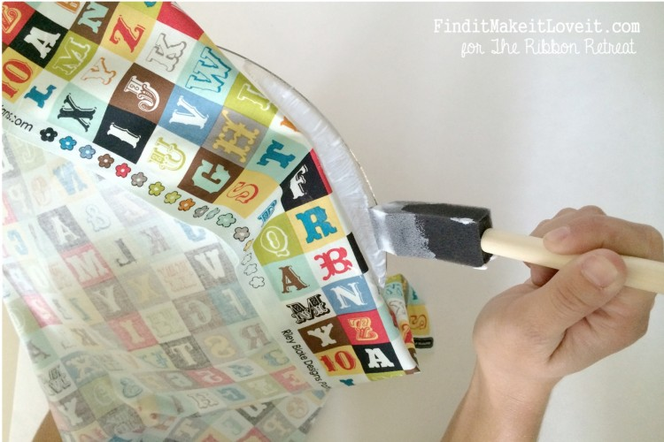 Fabric covered glass plate (5)