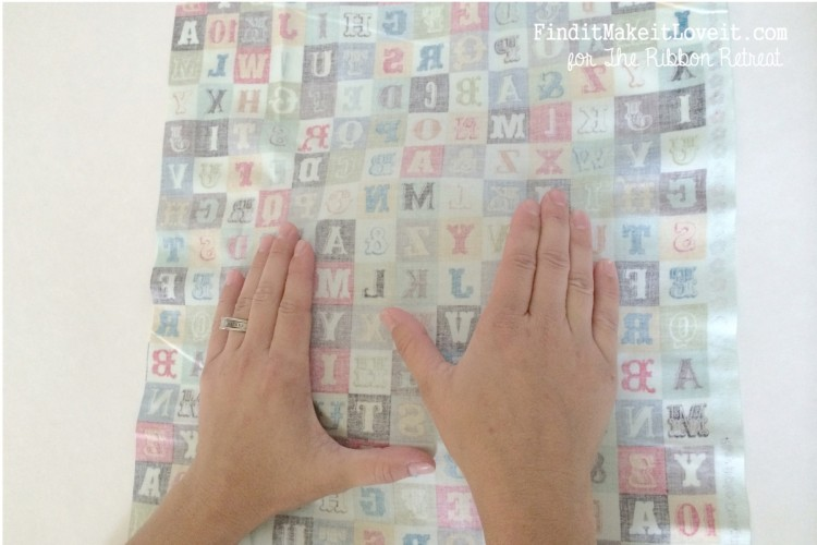 Fabric covered glass plate (6)