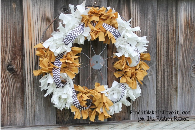 Fall Fabric Rag Wreath (1)