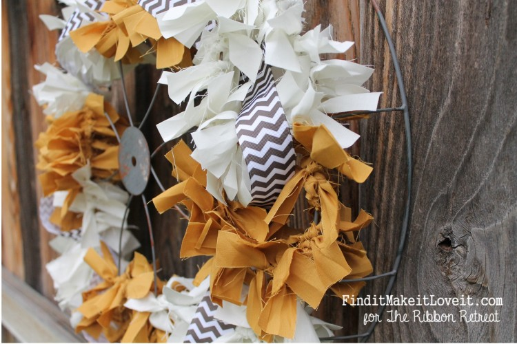 Fall Fabric Rag Wreath (10)