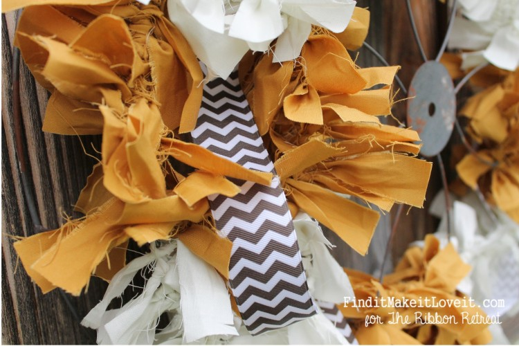 Fall Fabric Rag Wreath (11)