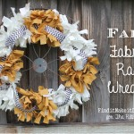 Fall Fabric Rag Wreath