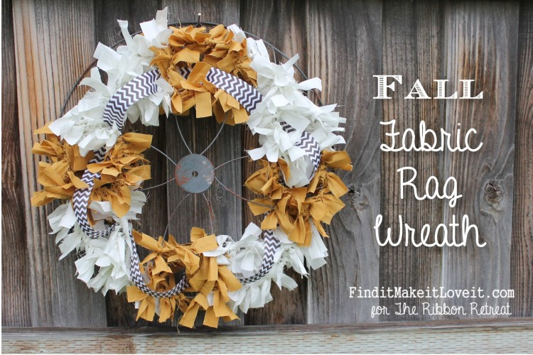 Fall Fabric Rag Wreath (12)
