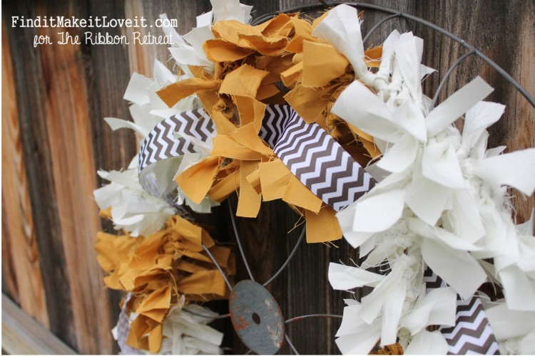 Fall Fabric Rag Wreath (13)