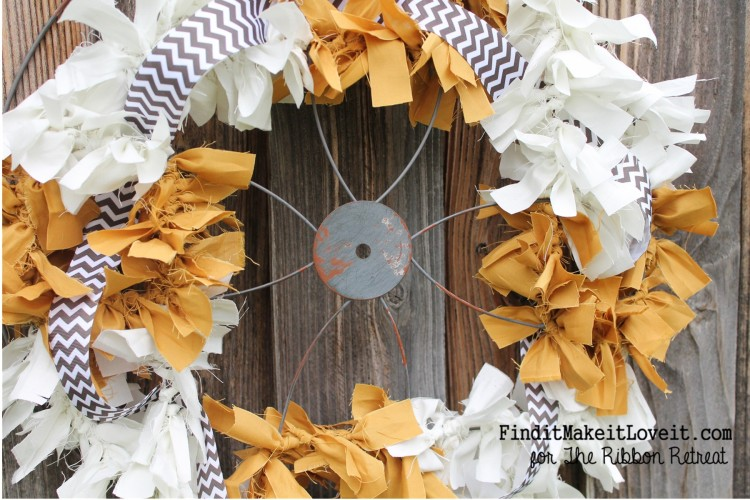 Fall Fabric Rag Wreath (14)