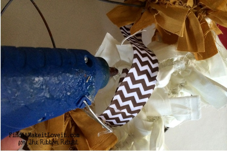 Fall Fabric Rag Wreath (2)