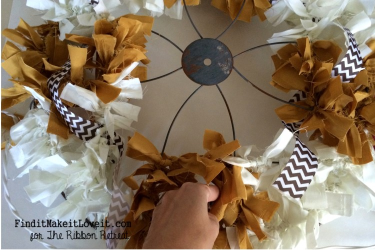 Fall Fabric Rag Wreath (3)