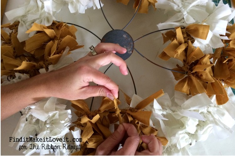 Fall Fabric Rag Wreath (4)