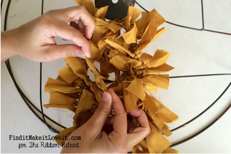 Fall Fabric Rag Wreath (5)