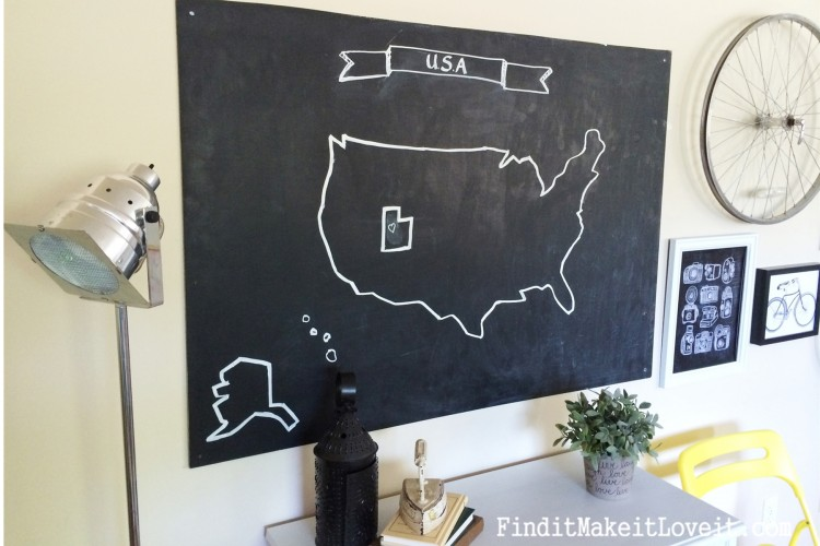 Huge Chalkboard Map (3)