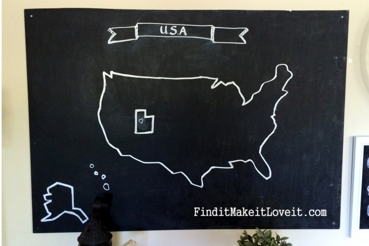 Huge Chalkboard Map (6)