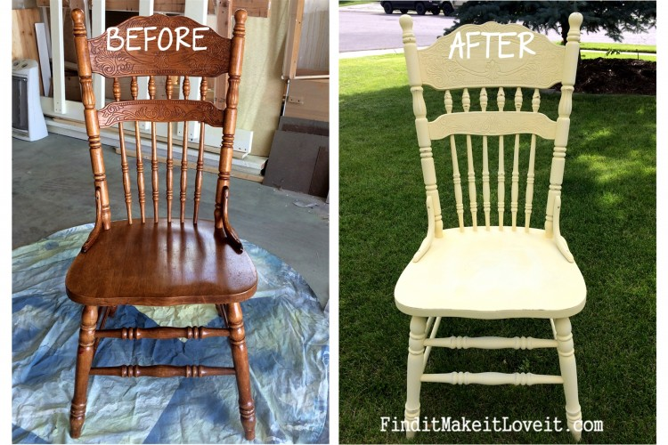 Re-finished chairs, DIY chalk paint (1)