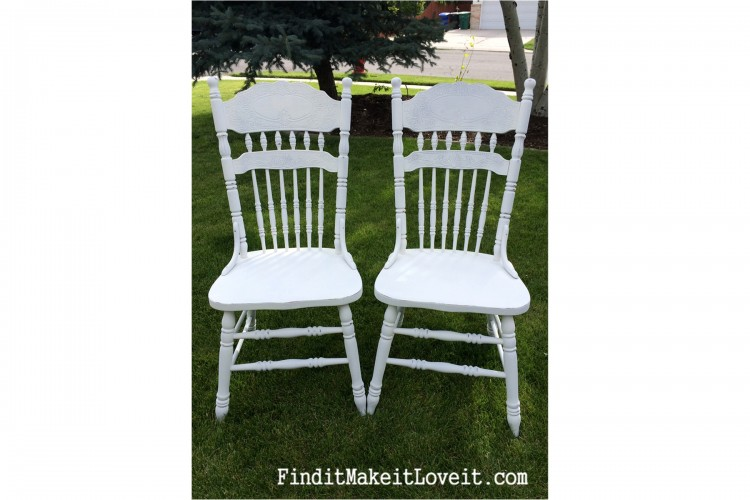 Re-finished chairs, DIY chalk paint (4)