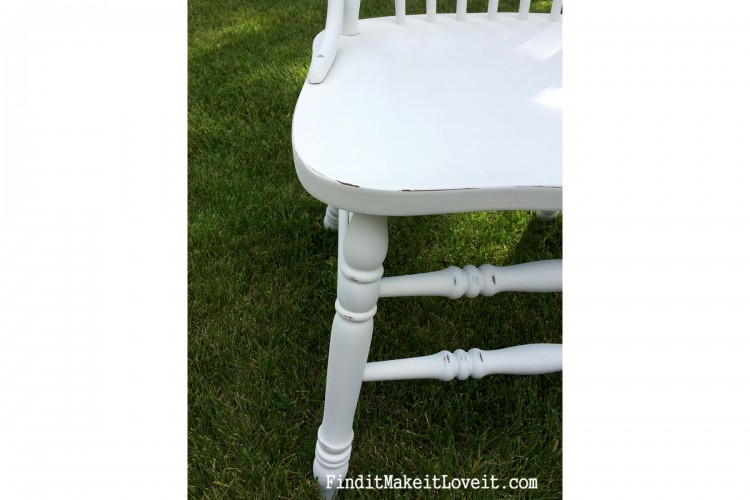 re finished chair-diy chalk paint