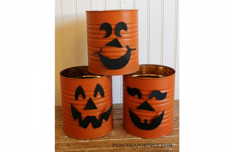 Tin Can Jack o lantern, pumpkin (2)