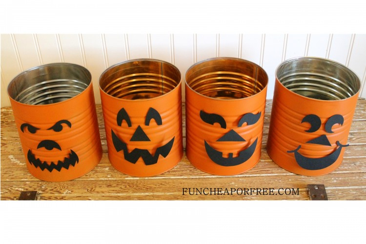 Tin Can Jack o lantern, pumpkin (3)