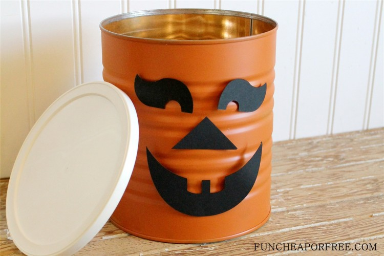 Tin Can Jack o lantern, pumpkin (4)