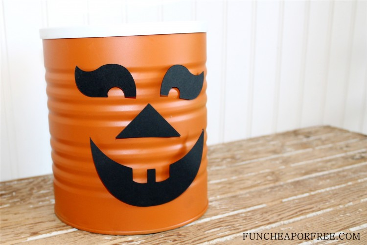 Tin Can Jack o lantern, pumpkin (5)
