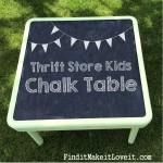 Thrift Store Kid's Chalkboard Table